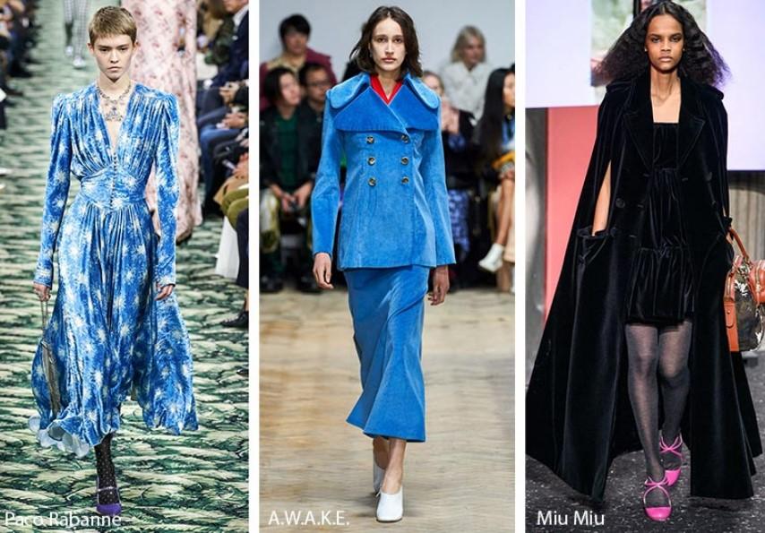 Sonbahar Kış 2019-2020 Moda Trendleri Kadife ve Süet
