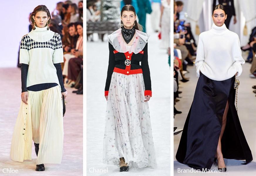 Sonbahar Kış Kadın Modası Maksi Etekler 2019-2020
