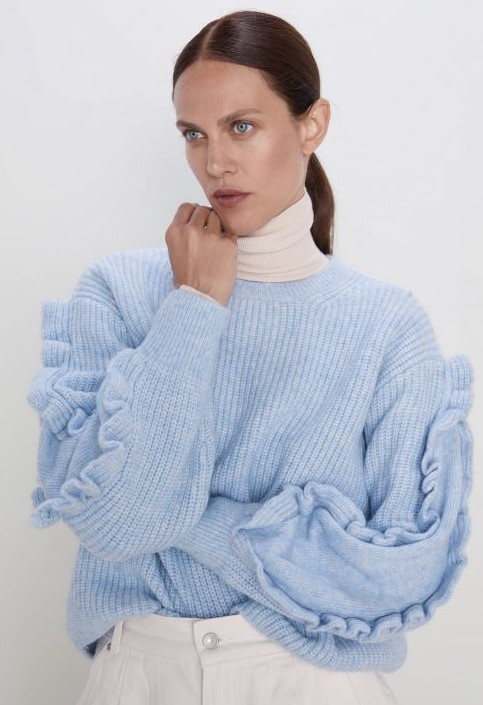 Zara kışlık kazak modelleri 2020