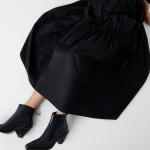 Zara metalik burunlu kısa topuklu bot modeli
