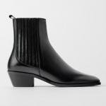 Zara siyah deri kovboy bot modeli 2020