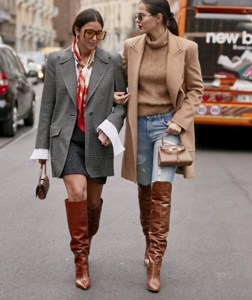 kış sokak modası bayan kombinleri 2020