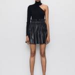 Zara deri kısa pileli etek modeli