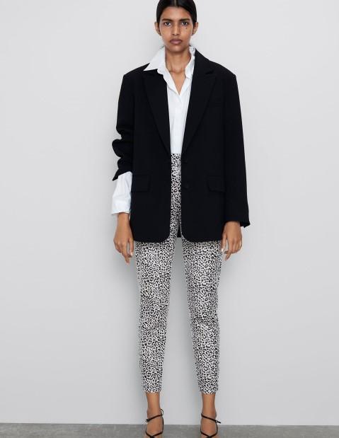Zara leopar desen tayt modeli 2020