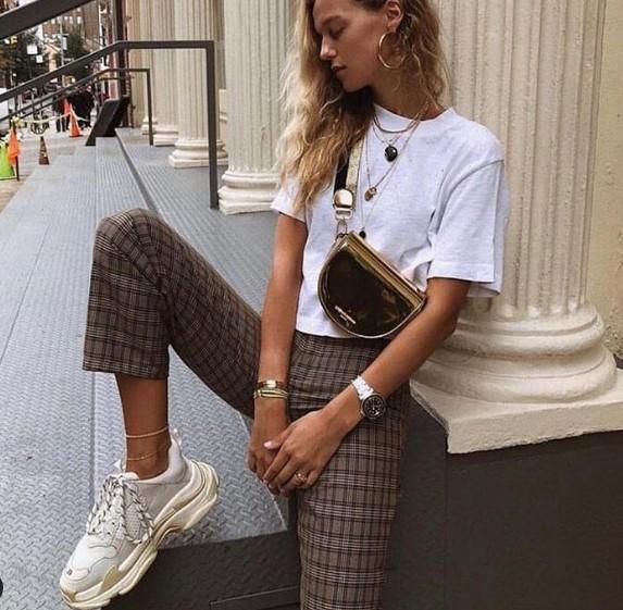 Zara sonbahar bayan ekose pantolon modelleri 2020