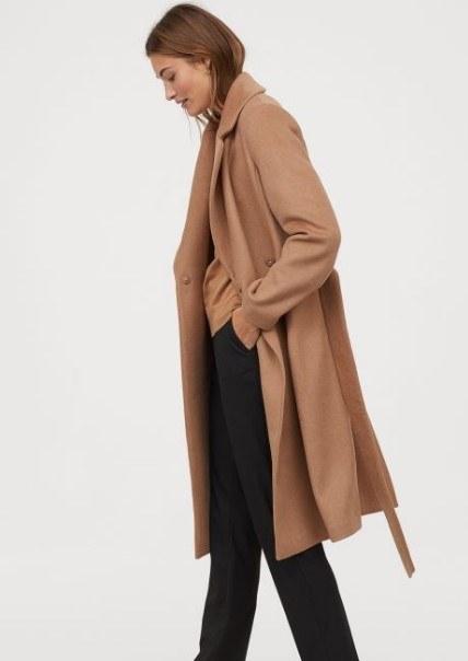 H & M yün kaban modeli 2019 2020