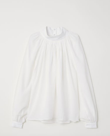 hm beyaz bluz modeli