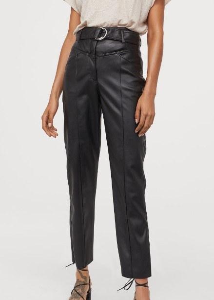hm sonbahar kış deri pantolonlar 2020