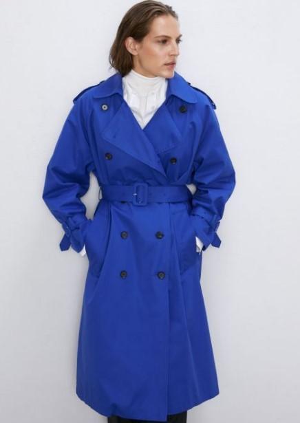 Zara mavi trençkot modeli
