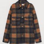 HM kareli yün ceket modeli
