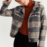 Kışlık Mango yün kareli ceket modeli 2020
