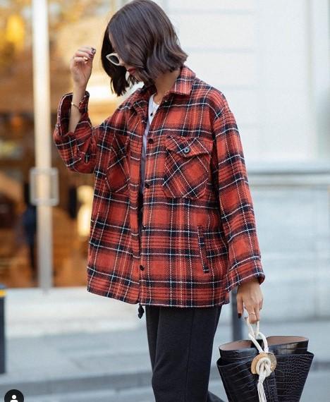 ekose desenli gömlek ceket modeli