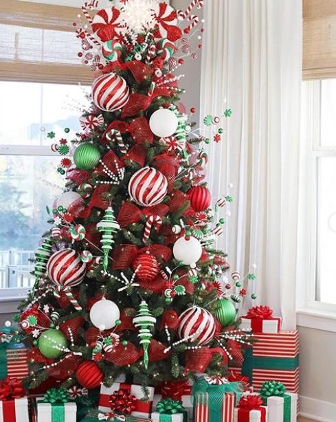 yılbaşı ağacı dekorasyon fikirleri 20