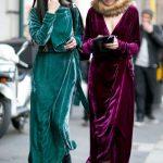 Kadife Yılbaşı elbise modelleri 2020