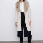 Zara kürk yaka ceket modeli 2020