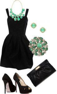 Siyah Elbise Kombinasyonu